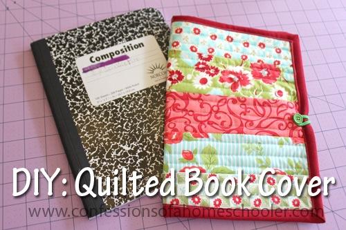 Quilt as You Go Book Cover Tutorial