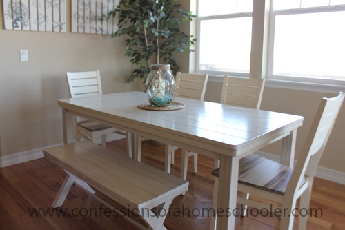 Chalk Paint Kitchen Table: Confessions Of A Homeschooler