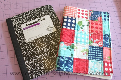 How To Make A Quilted Book Cover : Diy patchwork journal cover confessions of a homeschooler