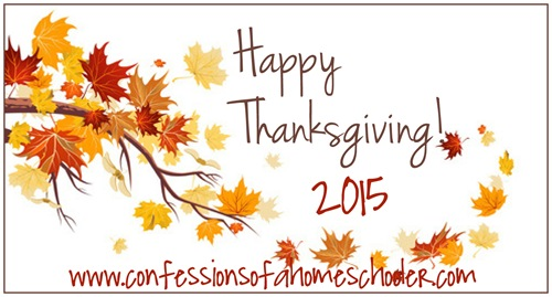 Happy Thanksgiving 2015 on 2015 1st Grade Homeschool Schedule