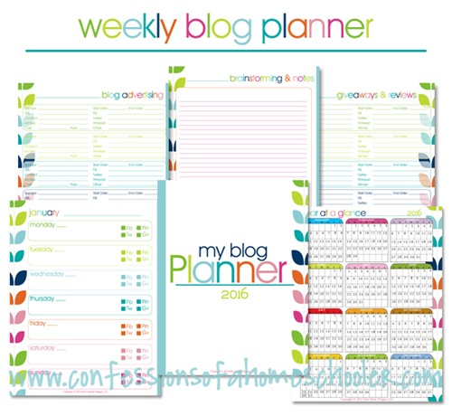2016 Free Yearly Blog Planner