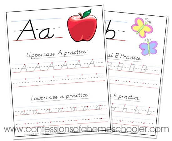 DNealian Handwriting Worksheets Confessions of a Homeschooler – D Nealian Cursive Handwriting Worksheets