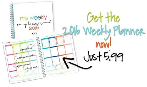 January–December 2016 Weekly Planner