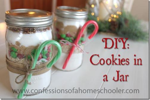 Diy Cookies In A Jar Gift Idea Confessions Of A Homeschooler