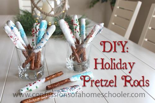 DIY: Holiday Pretzel Rods