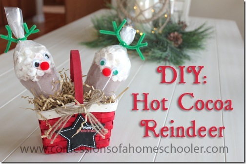 DIY: Hot Cocoa Reindeer Gifts