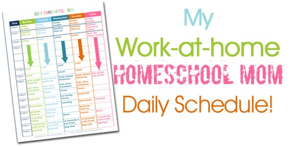 Updated Homeschool Mom Daily Schedule