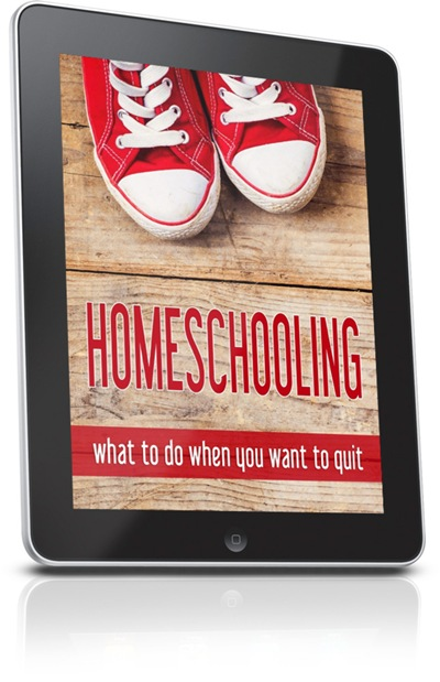 Homeschooling-what to do when you want to quit - Cover Final - ipad