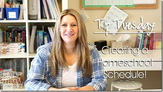 Tip Tuesday: Creating a Homeschool Schedule