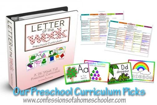 Preschool Homeschool Curriculum Picks