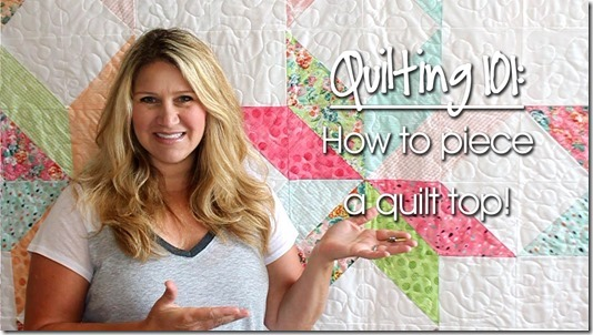 Quilting 101: How To Piece Fabric