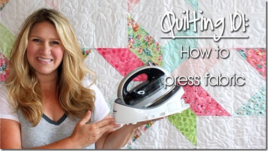 Quilting 101: How to Press Fabric