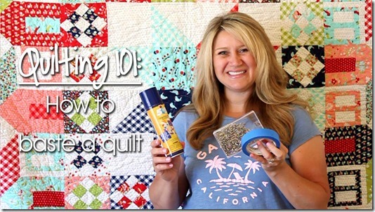 Quilting 101: How to Baste a Quilt