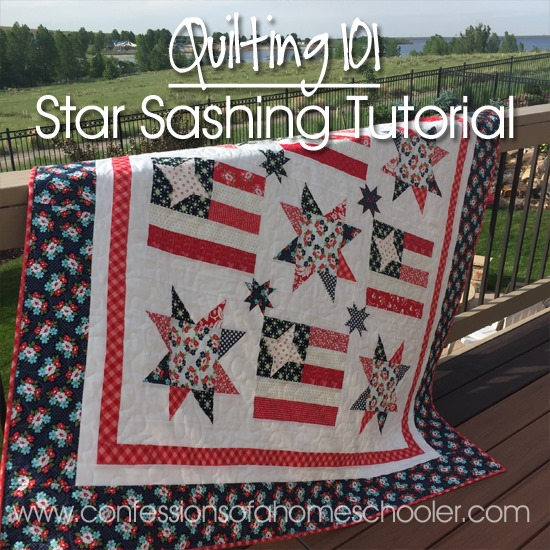 Quilting 101 Star Sashing Tutorial Confessions Of A Homeschooler