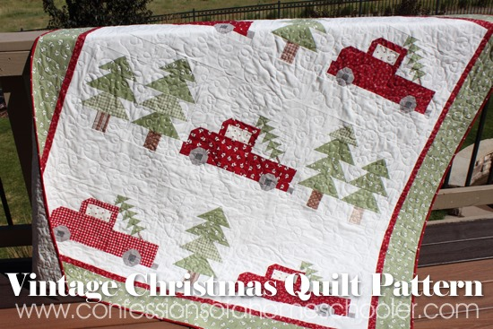 Vintage Christmas Quilt Pattern Giveaway!