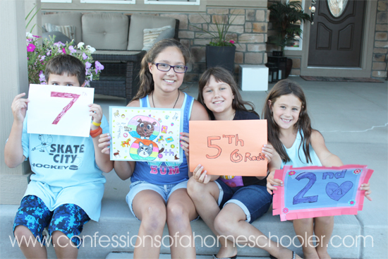 2016-2017 First Day of Homeschool!