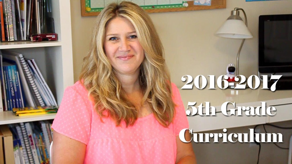 2016-2017 5th Grade Homeschool Curriculum