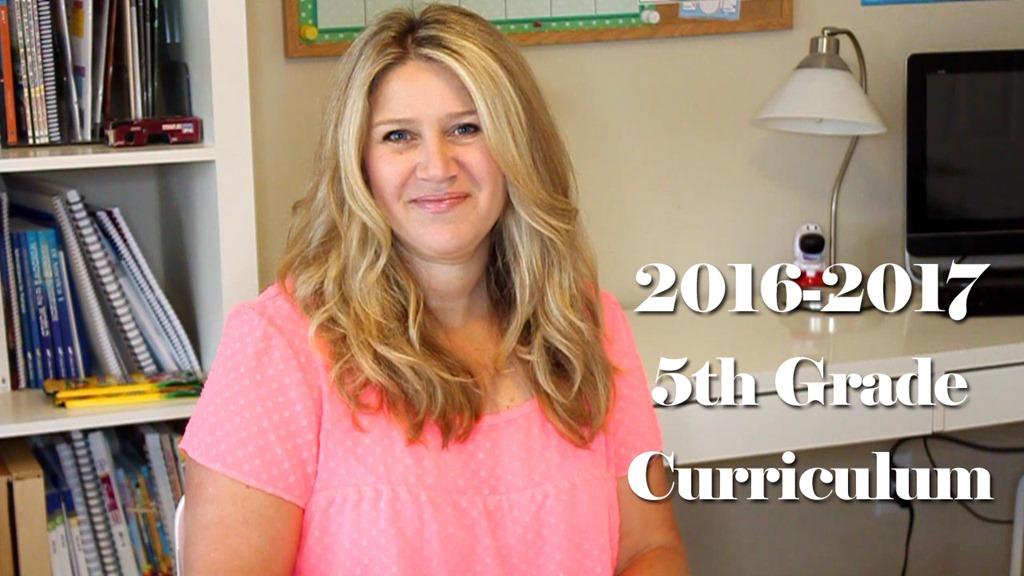 2016-2017 5th Grade Homeschool Curriculum