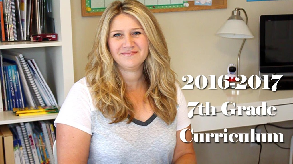 2016-2017 7th Grade Homeschool Curriculum