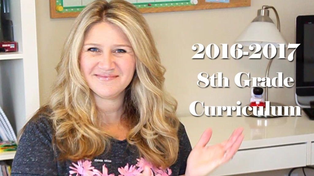 2016-2017 8th Grade Homeschool Curriculum