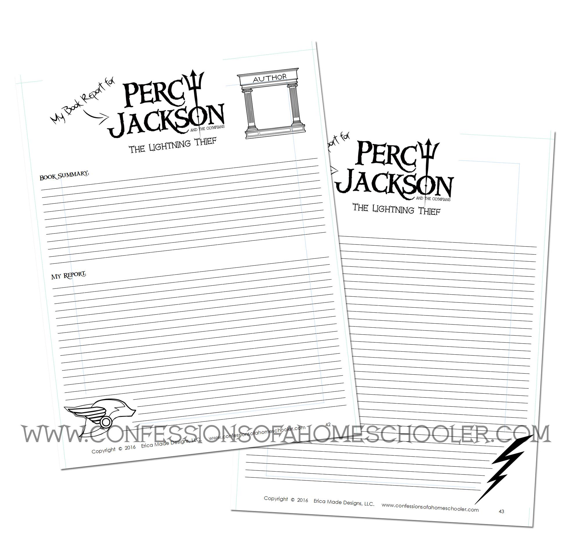 percy jackson literature unit confessions of a homeschooler. Black Bedroom Furniture Sets. Home Design Ideas