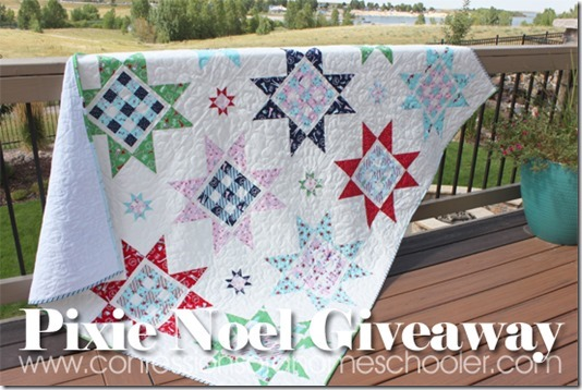 Gingham Stars Quilt and a Pixie Noel Giveaway!