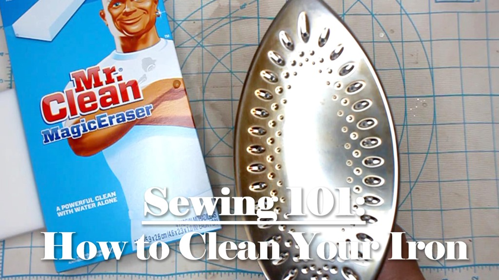 Sewing 101: How to Clean Your Iron