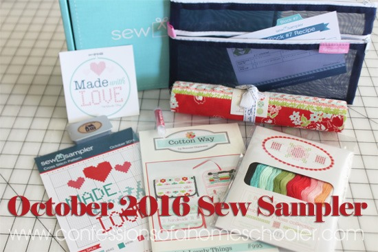 October 2016 Sew Sampler Box Review