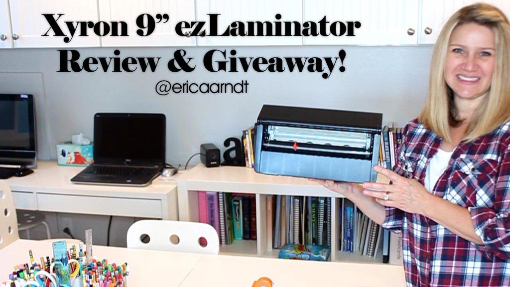 """Xyron 9"""" ezLaminator Review & Giveaway!"""