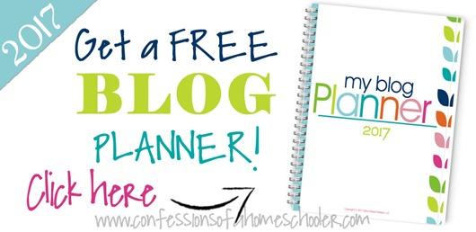 2017 Free Blog Planner