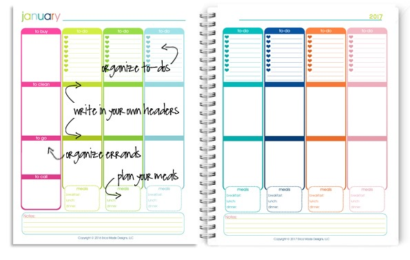 2017 Daily Planner - Confessions of a Homeschooler