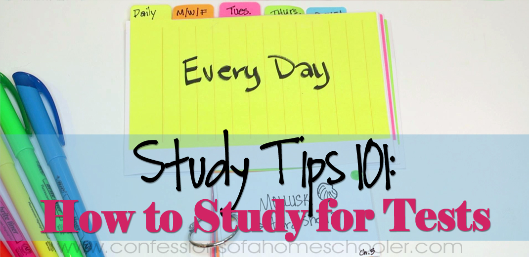 Study Tips #3: How to Study for Tests