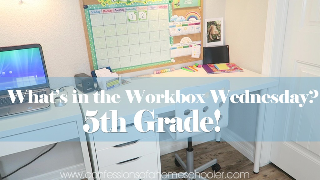 What's in the Workbox: 5th Grade 2017