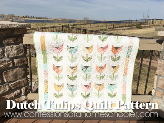 Dutch Tulips Quilt Pattern By Fat Quarter Shop Confessions Of A