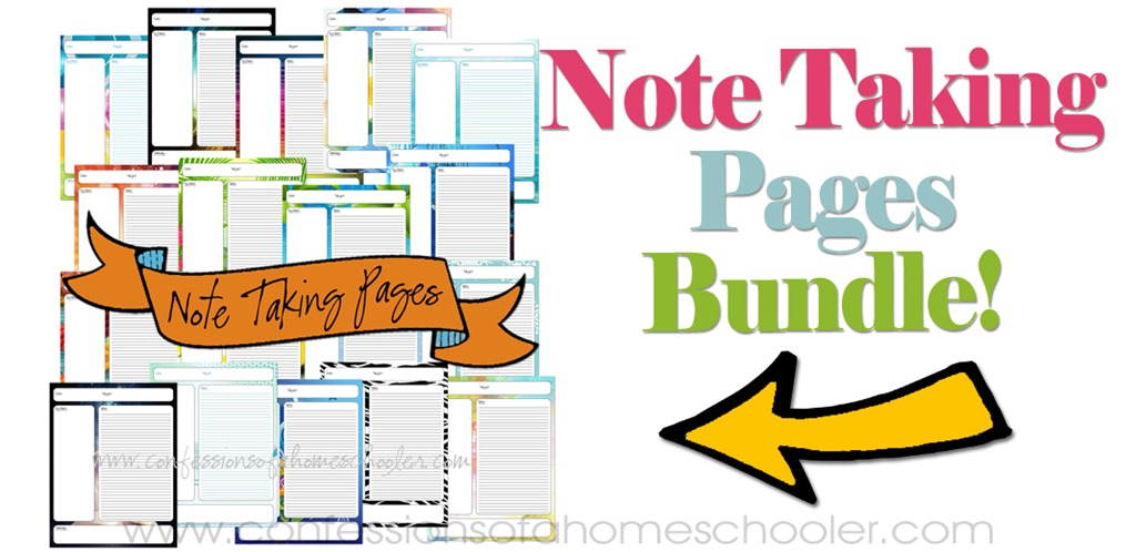 Note Taking Pages Bundle