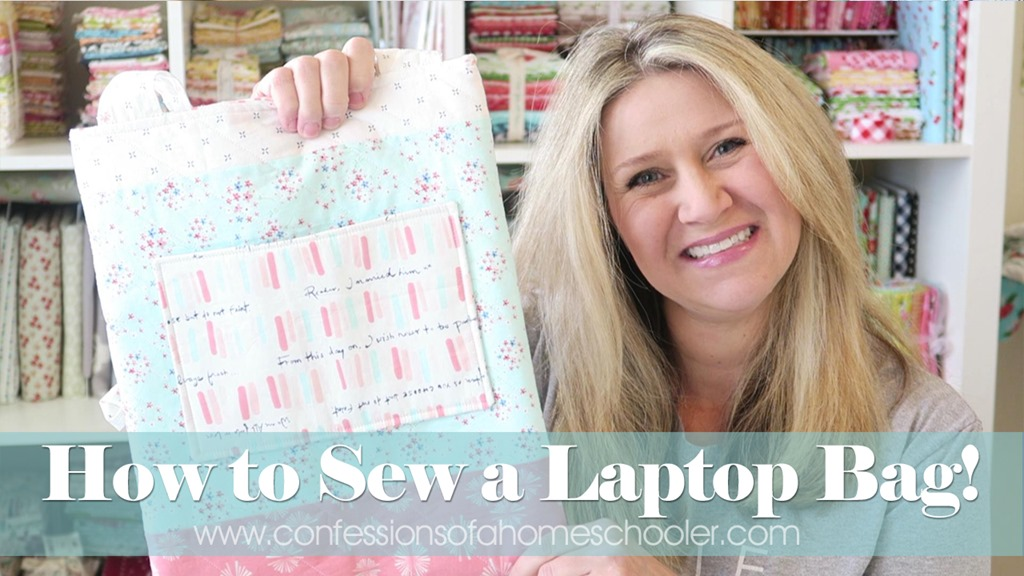 Super Easy Laptop Bag Sewing Tutorial