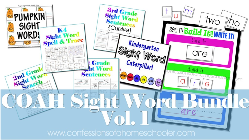 Sight Word Activity Bundle!