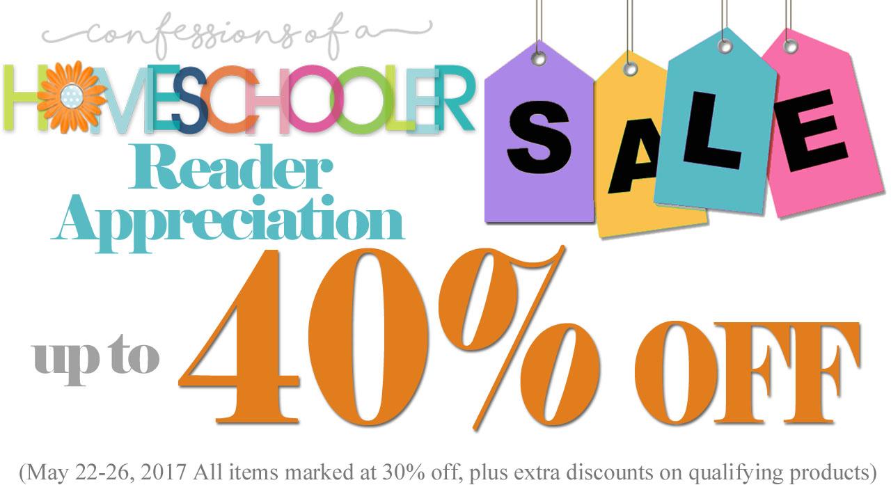 Day 1: 40% OFF Homeschool Curriculum Sale!