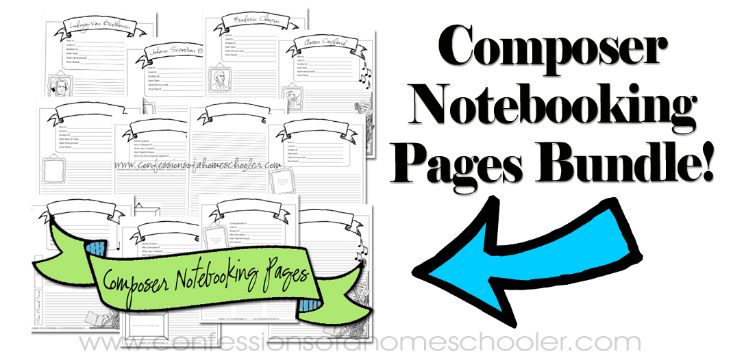 Composer Notebooking Pages Bundle