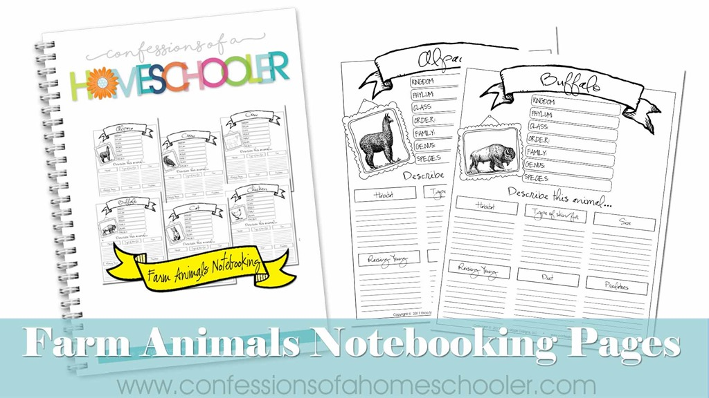 Farm Animals Notebooking Pages Bundle