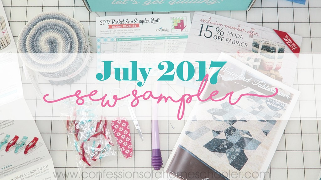 July 2017 Sew Sampler Un-boxing!