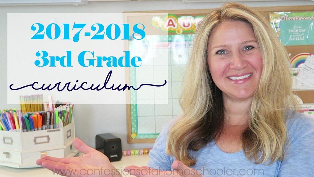 2017-2018 3rd Grade Homeschool Curriculum Picks