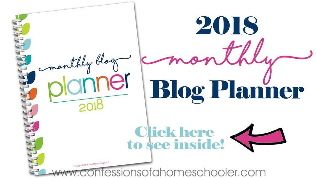 2018 Monthly Blog Planner
