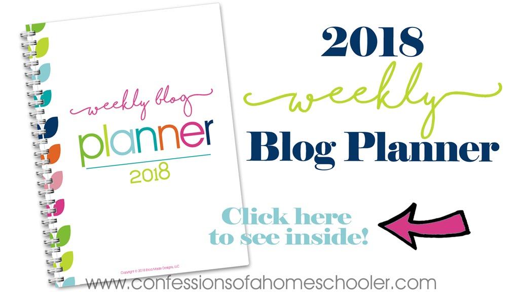 2018 Weekly Blog Planner