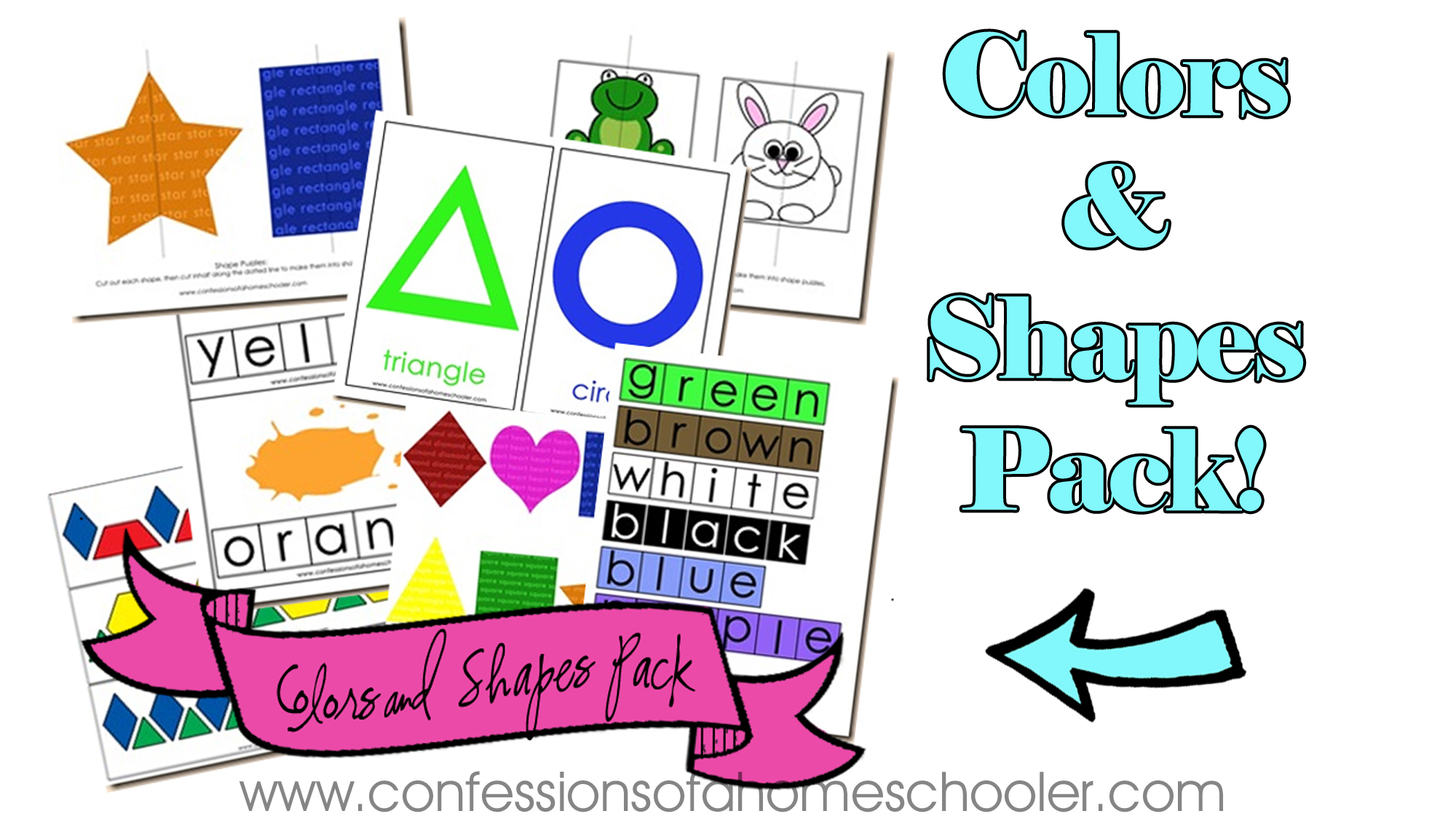 Colors and Shapes Review Pack!
