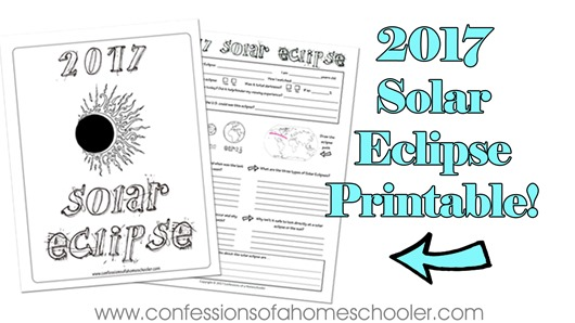 2017 Solar Eclipse Printable!