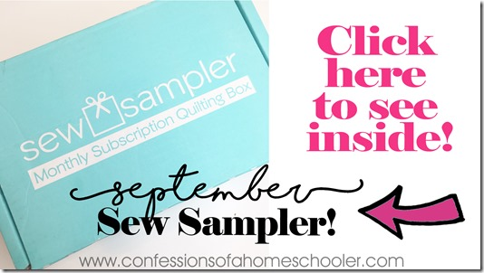 September Sew Sampler Un-Boxing!