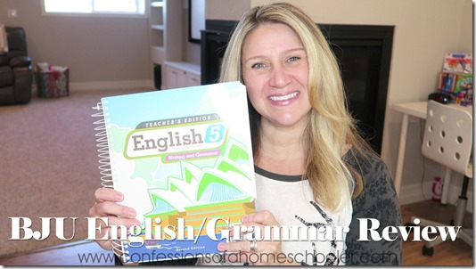 BJU English Homeschool Curriculum Review