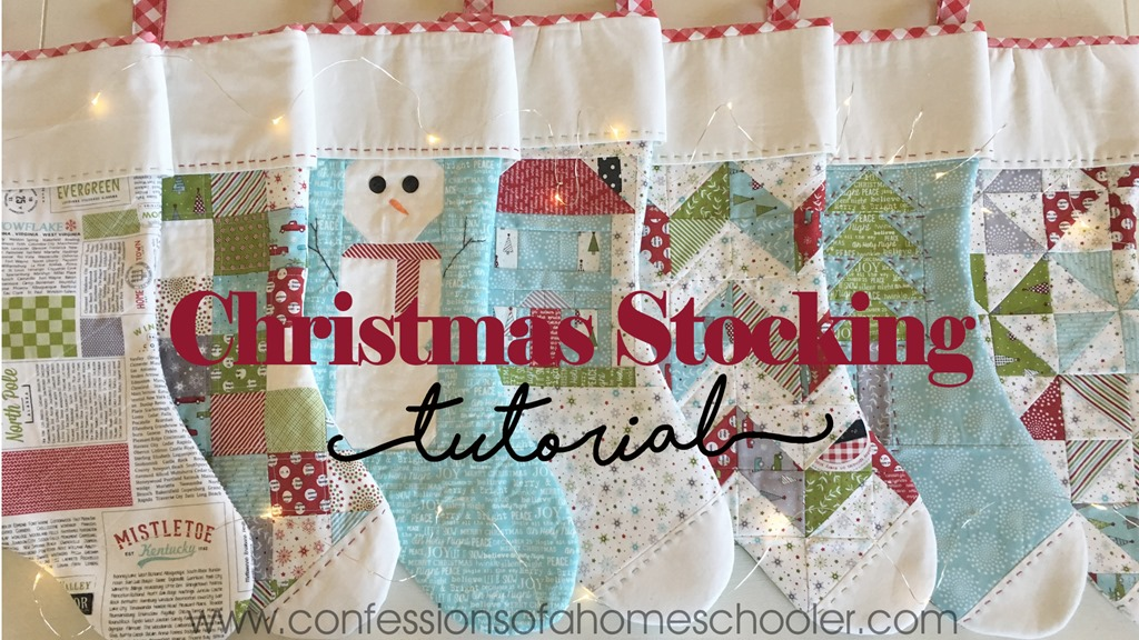 Christmas Cheer Stocking Tutorial