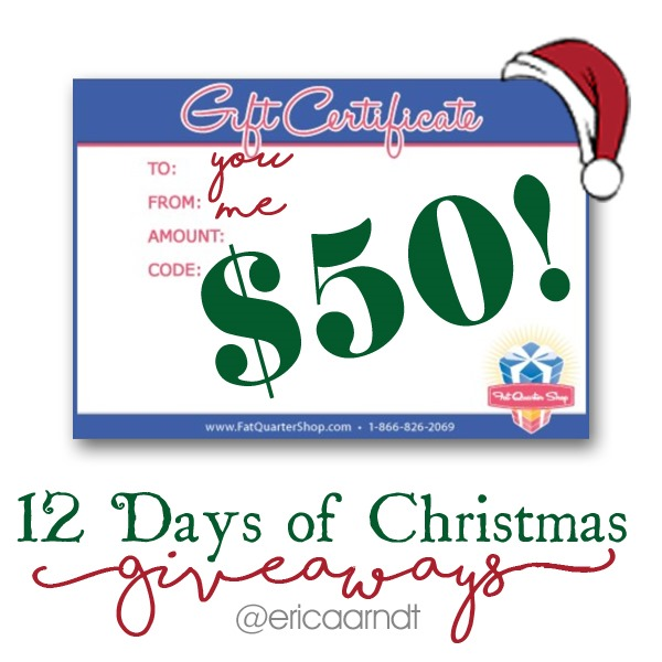 Fat Quarter Shop $50 Gift Card Christmas Giveaway